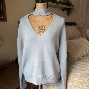 Baby Blue Tobi Cut Out Sweater Size Small
